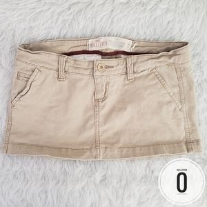 Size 0 Hollister Khaki Mini Skirt